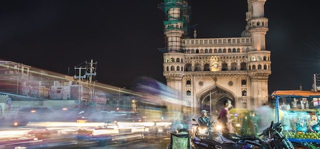 Charminar In Hyderabad at night.