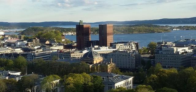 Blick auf die Innenstadt Oslo.
